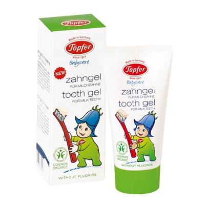 pasta de dentes em gel para dentes de leite