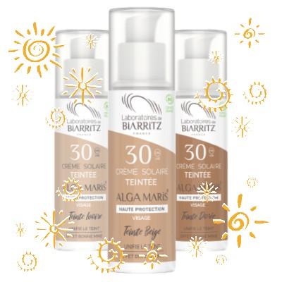 Protetor solar para rosto com cor