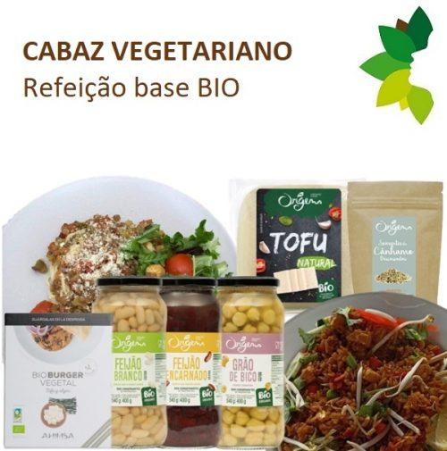 Cabaz vegetariano refeição base BIO